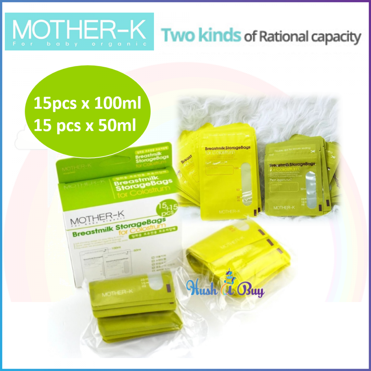 MOTHER K Breastmilk Storage Bag For Colostrum 50ml+100ml (30pcs)