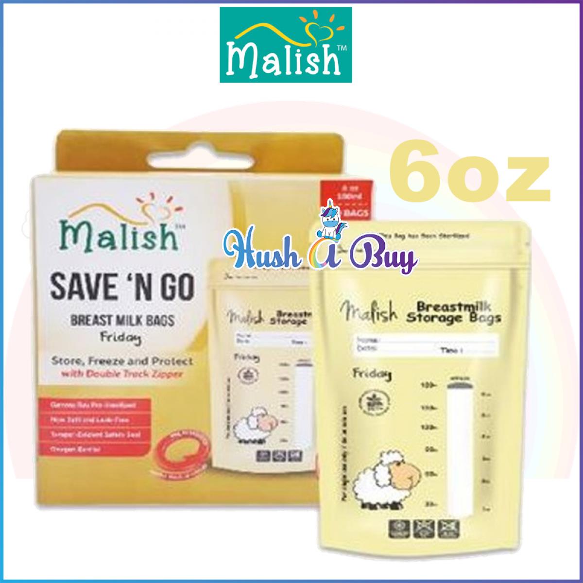 Malish - Save n Go Breast Milk Bags (25bags) 3.4oz/100ml 6oz/180ml
