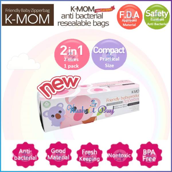 K-MOM Baby Zipperbag Compact M 20*21 x L 28*20 (30pcs)