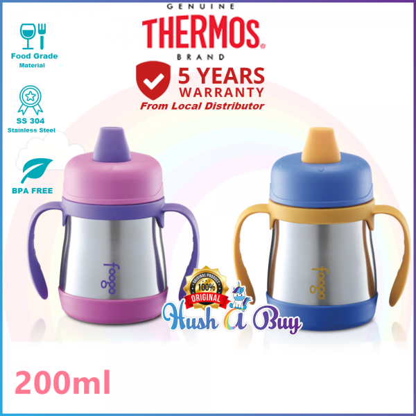 Thermos Foogo 0.21L Hygienic Soft Spout Sippy Cup with Handle - Blue, Pink