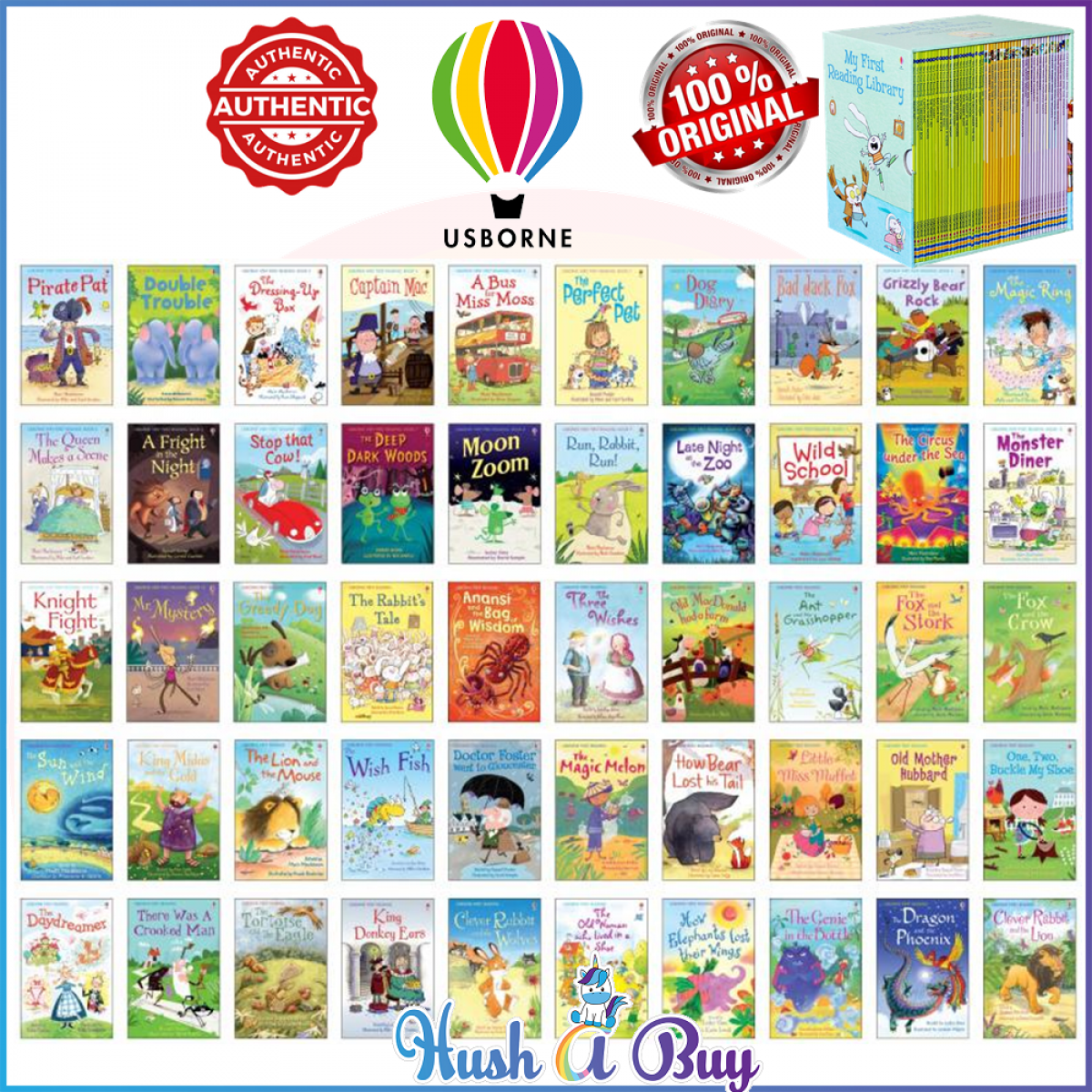 Usborne My First Reading Library Children Books (50 Books in a slipcase) - Original and Authentic