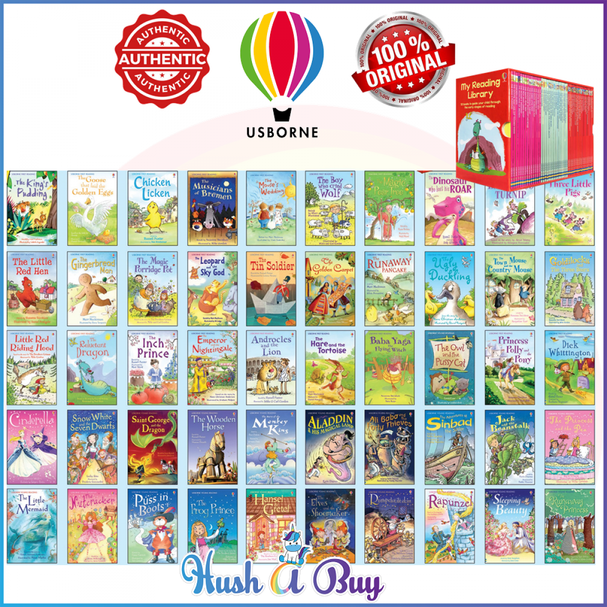 Usborne Reading Library Children Books (50 Books in a slipcase) - Original and Authentic