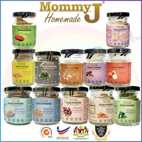 MommyJ Organic Homemade Food Powder - Garlic Onion Anchovy Bayam