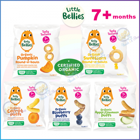 Little Bellies Organic Round-about or Puffs or Animal Biscuit or Gingerbreadmen