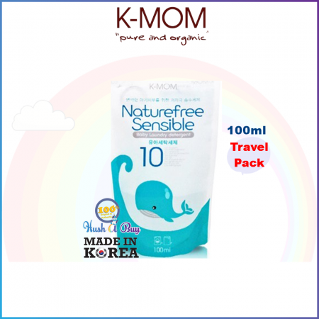 K-MOM USDA Organic Laundry & Floor Detergent Pack Travel Packs - 100ml