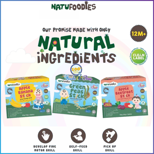Natufoodies Healthy Snacks Sticks - Halal