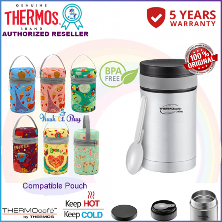 Thermos Thermocafe Basic Living Food Jar With PP Spoon 500ml FREE COMPATIBLE POUCH