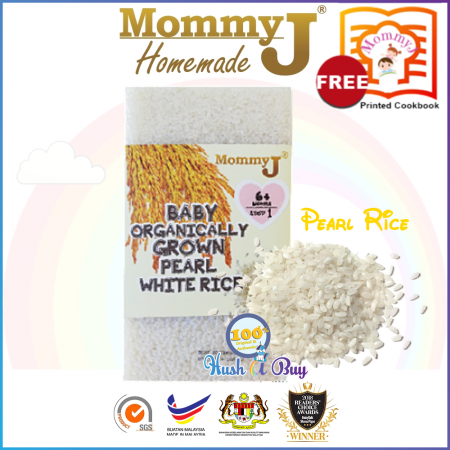 MommyJ Organically Grown Pearl White Rice 900g 6m+ FREE PRINTED COOKBOOK FROM MOMMYJ