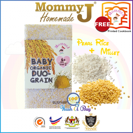 MommyJ Organically Grown DUO-Grain (Rice & Millet) 900g 6m+ FREE PRINTED COOKBOOK FROM MOMMYJ