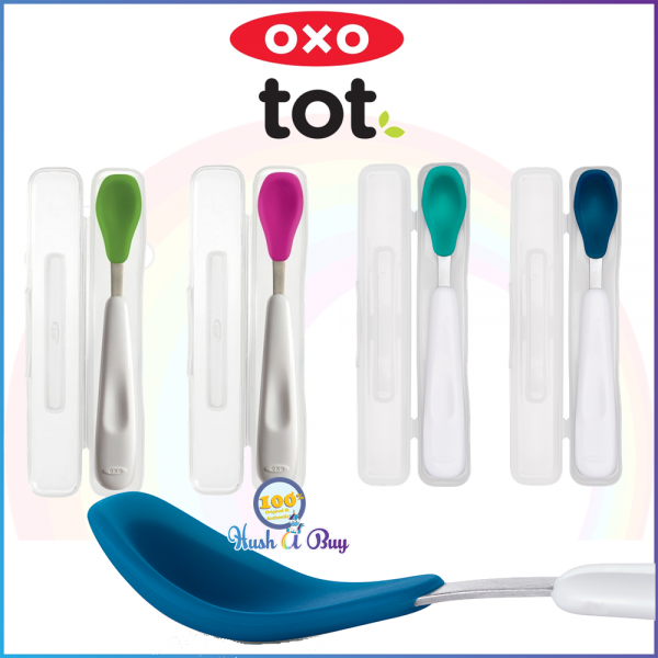 OXO TOT On-the-Go Feeding Spoon with Carry Case 6+Month