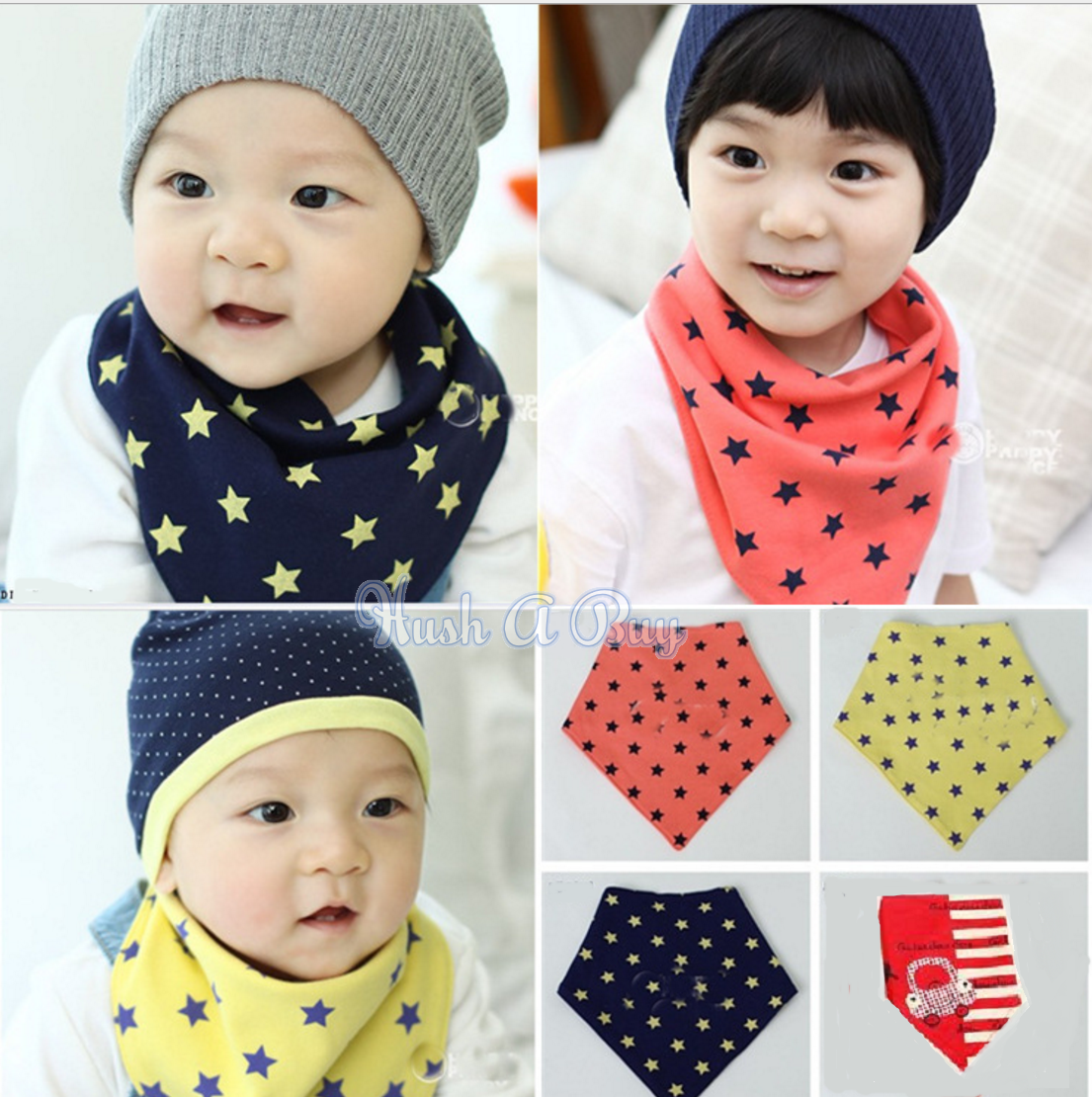 Korean Stylish Bib with Stars Design
