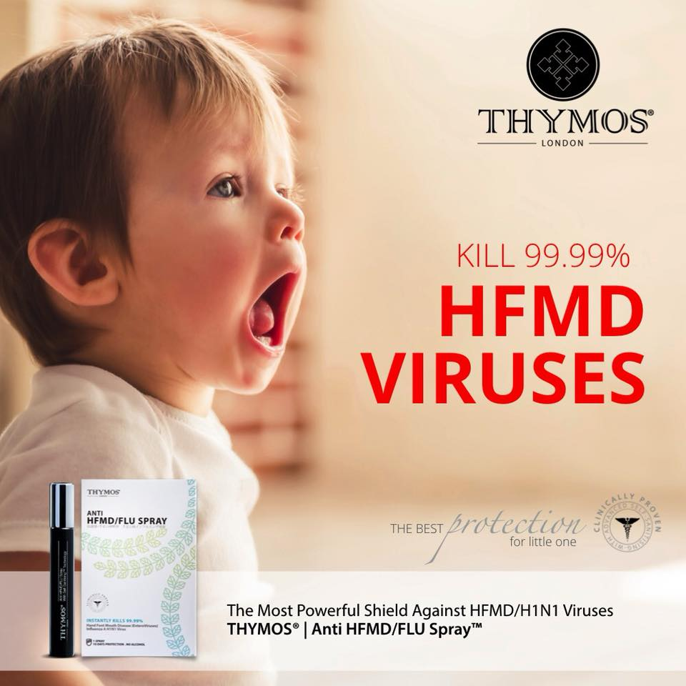 READY STOCK - THYMOS Anti-HFMD/FLU Spray 10ml