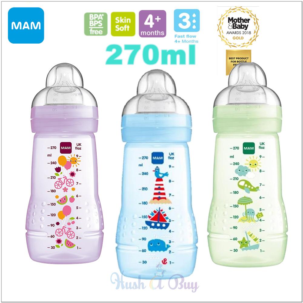 MAM Easy Active Baby Feeding Bottle 270ml - Single