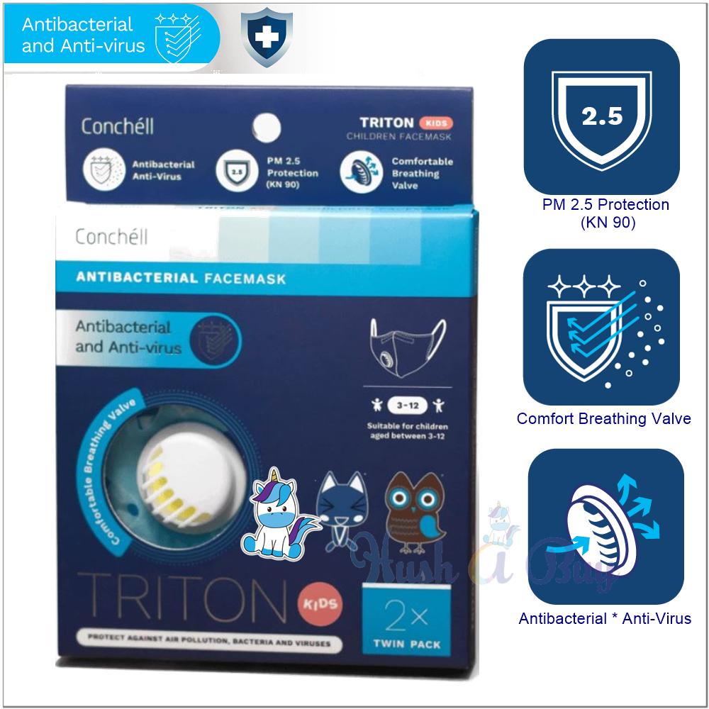 Conchell TRITON - KIDS Antibacteria Reusable Facemask (2pcs)