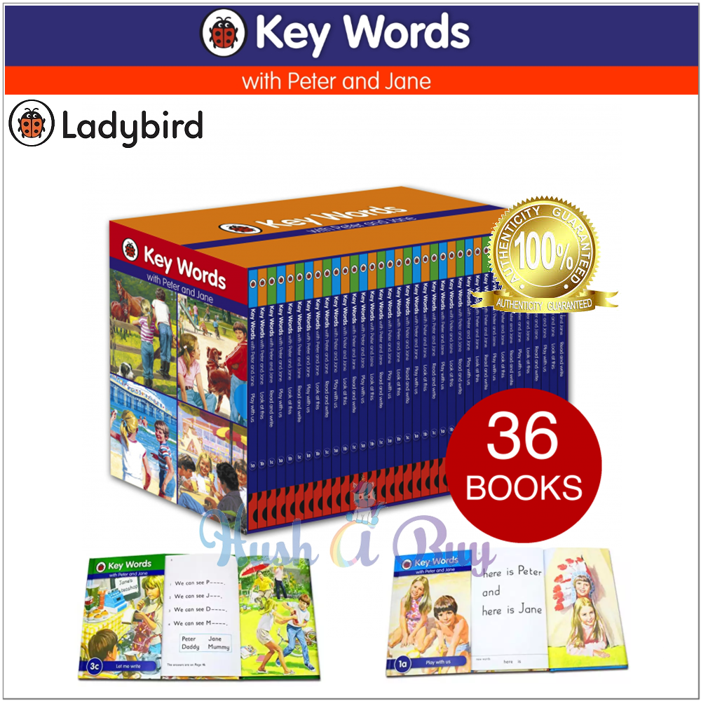 Ladybird Key Words with Peter and Jane Box Set - 36 Books (Complete Collection)