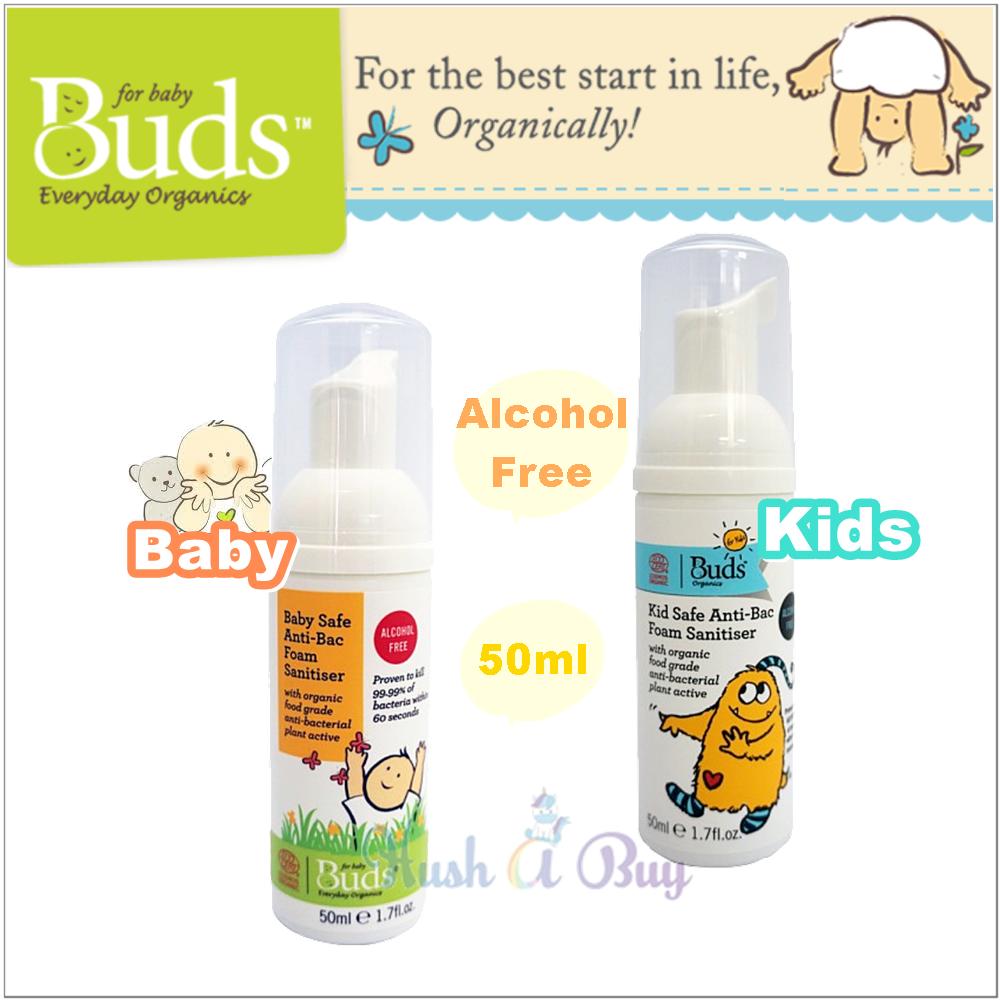 Buds Anti-Bac Foam Sanitiser 50ml (Rinse Free)