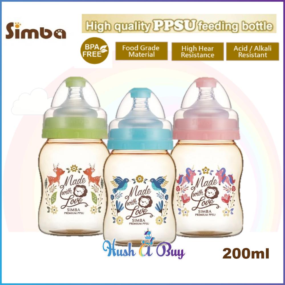 Simba Dorothy Wonderland PPSU Wide Neck Feeding Bottle 200ml (3 colors available)