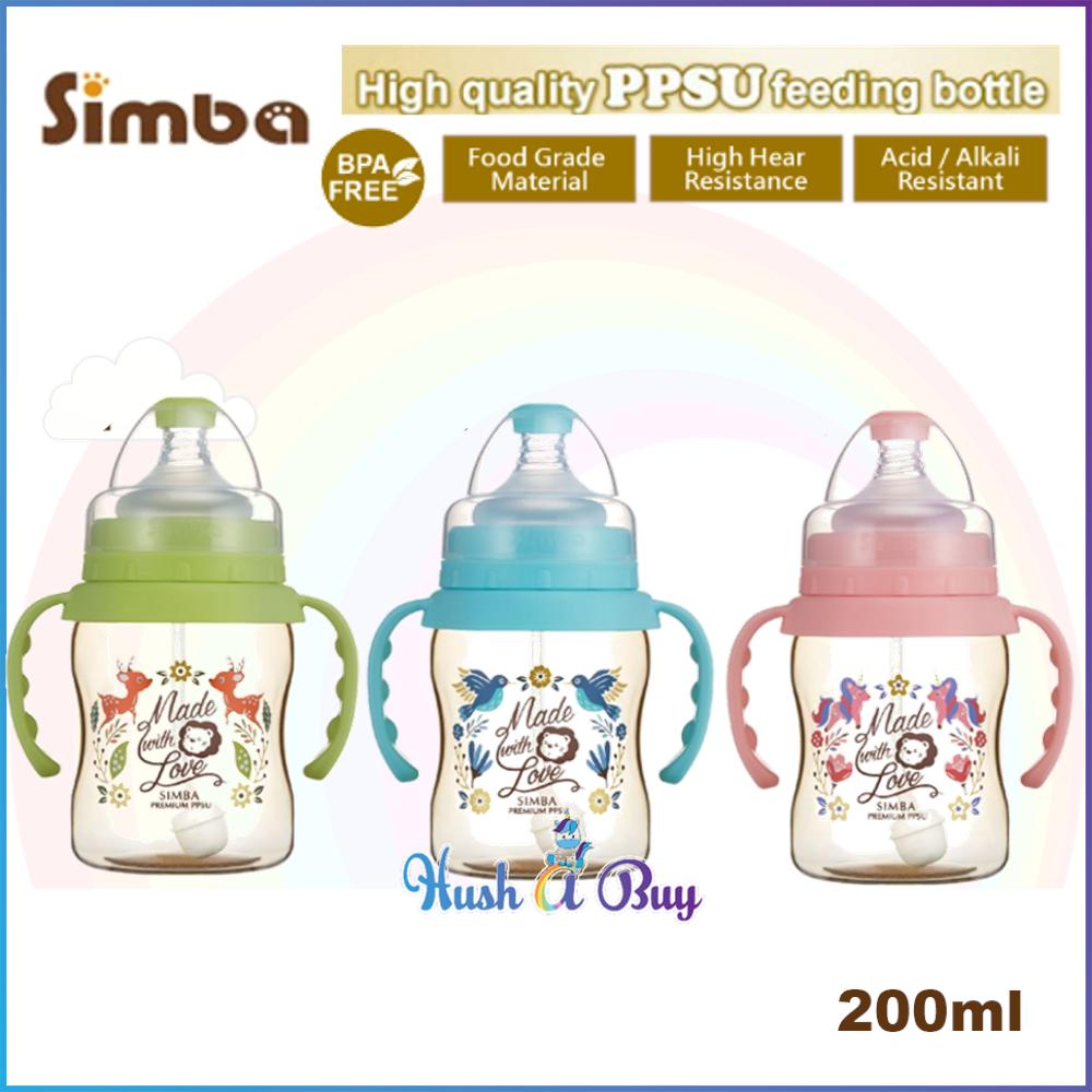 Simba Dorothy Wonderland PPSU Feeding Bottle with HANDLE 200ml (3 colors available)