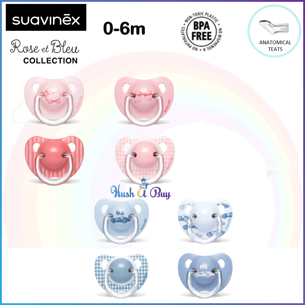 Suavinex Evolution Line Anatomica Soother / Pacifer / Puting 0-6months - Single - Pink / Blue
