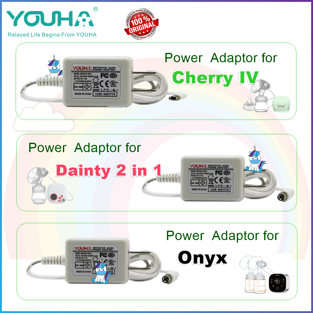 Youha Spare Parts - Power Adaptor for Breastpump Cherry, Dainty, Onyx