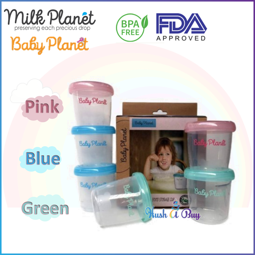 Milk Planet Baby Planet Breast Milk Storage Cup 180ml/6oz ( 4 cups)