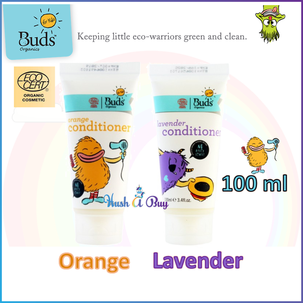 Buds For Kids Hair Conditioner- Orange/ Lavender