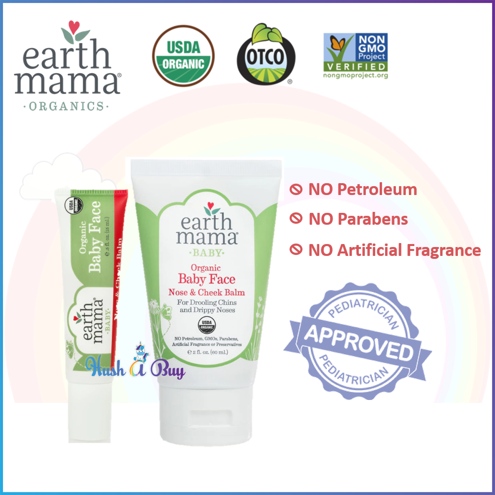 EarthMama Organic Baby Face Nose & Cheek Balm 15ml/ 60ml